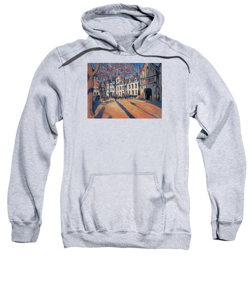 Winter Light At The Our Lady Square In Maastricht Sweatshirt by Nop Briex