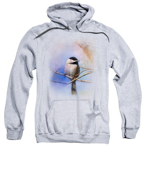 Winter Morning Chickadee Sweatshirt