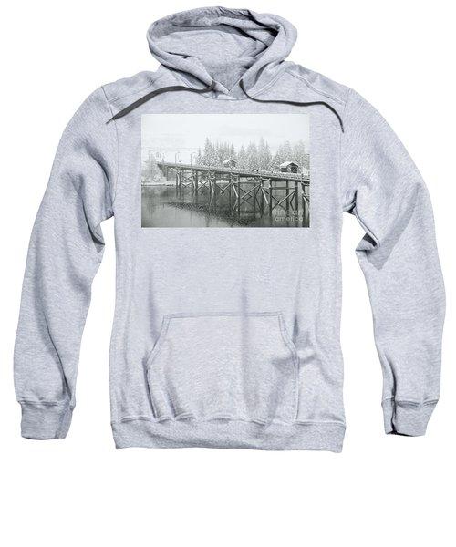 Winter Morning In The Pier Sweatshirt