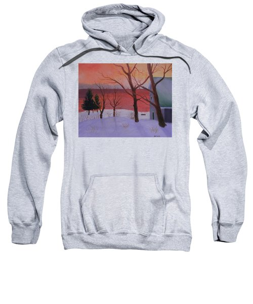 Winter Ocean Sunrise Sweatshirt
