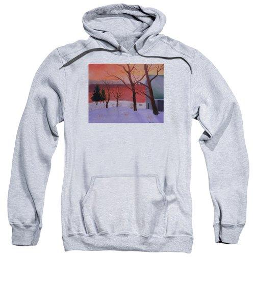 Winter Ocean Sunrise Sweatshirt