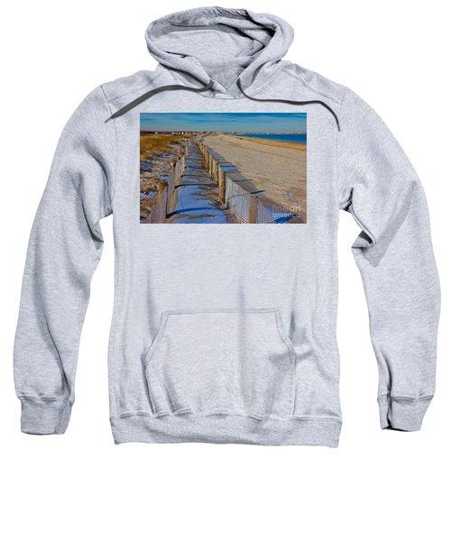 Winter On Duxbury Beach Sweatshirt