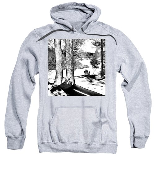 Sweatshirt featuring the photograph Winter Shadows by David Patterson