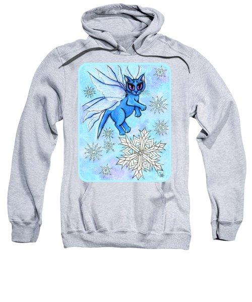 Winter Snowflake Fairy Cat Sweatshirt