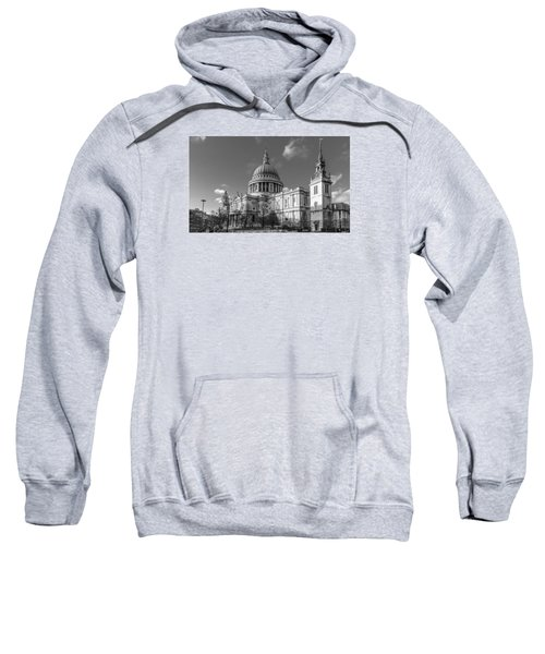 Winter Sun St Paul's Cathedral Bw Sweatshirt