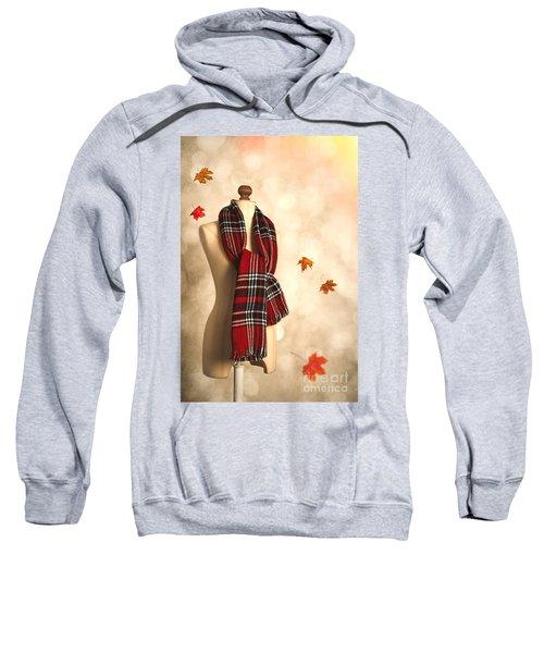 Winter Tartan Scarf Sweatshirt
