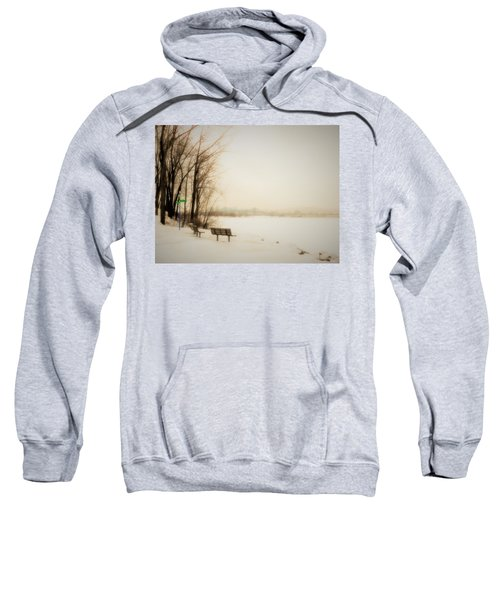 Sweatshirt featuring the photograph Winter View Over Montreal by Cristina Stefan