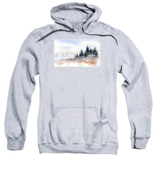Winter Watercolor Painting Sweatshirt