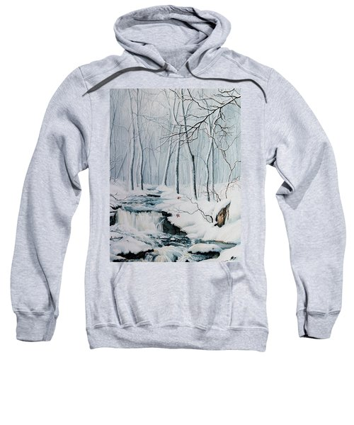 Sweatshirt featuring the painting Winter Whispers by Hanne Lore Koehler