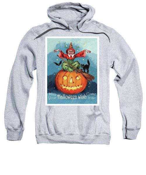 Witch In A Big Pumpkin Sweatshirt