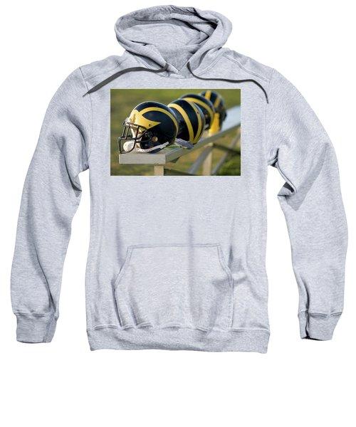 Wolverine Helmets On A Bench Sweatshirt