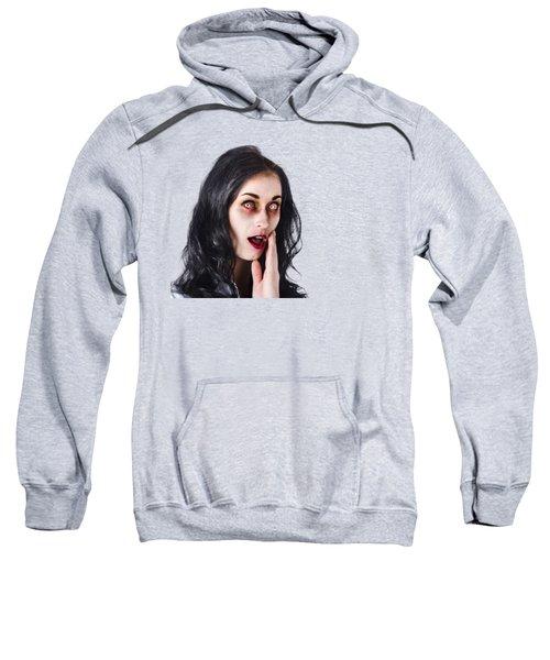 Woman In Horror Makeup Sweatshirt