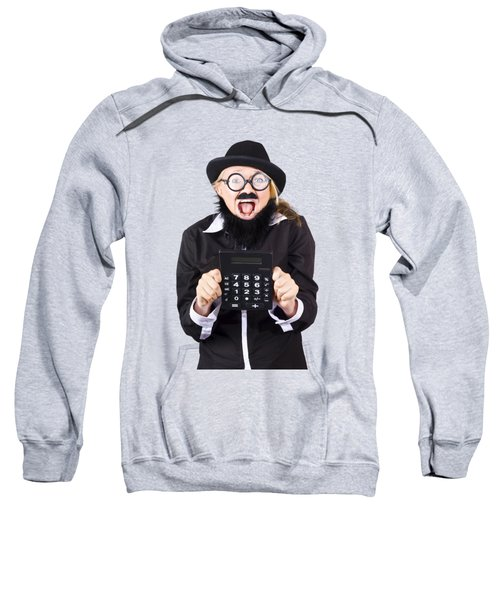 Woman With Electronic Calculator Sweatshirt