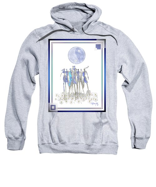 Women Chanting - Full Moon Flower Song Sweatshirt