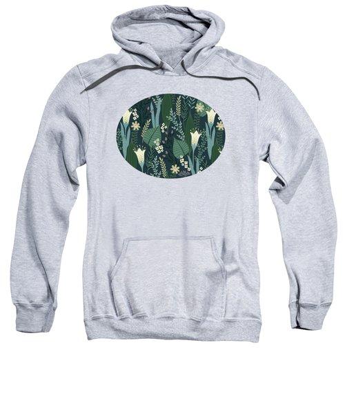 Wonderful Mid Century Style Garden Patten  Sweatshirt