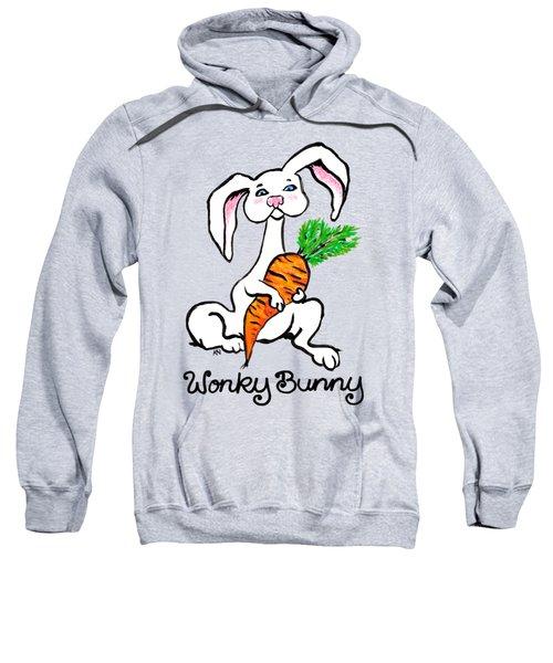 Wonky Bunny Carrot Sweatshirt by Katherine Nutt