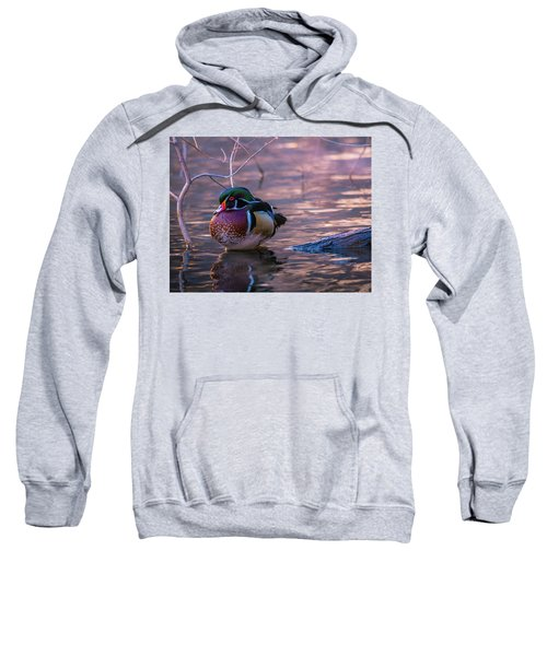Wood Duck Resting Sweatshirt