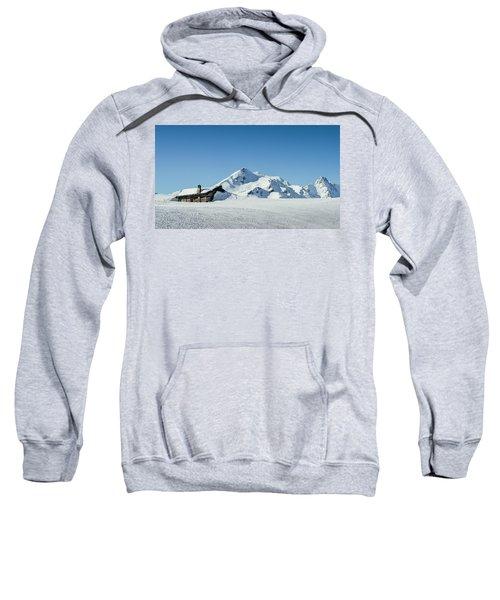 Wooden Alpine Cabin  Sweatshirt