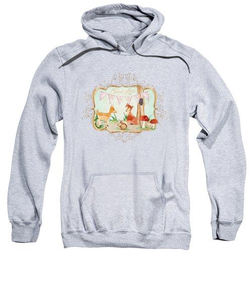 Woodland Fairytale - Banner Sweet Little Baby Sweatshirt by Audrey Jeanne Roberts