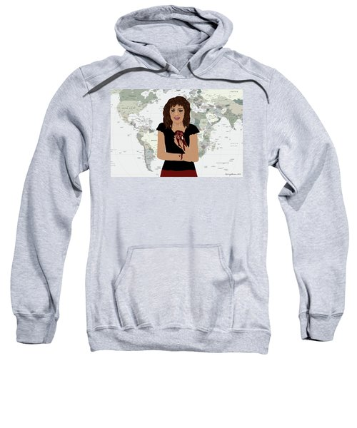 Sweatshirt featuring the digital art World Pain by Nancy Levan