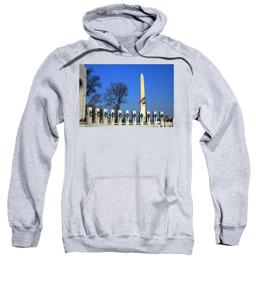 World War II Memorial And Washington Monument Sweatshirt