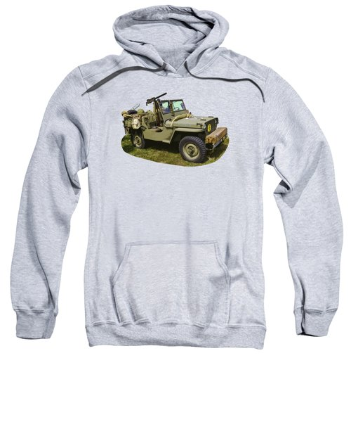 World War Two - Willys - Army Jeep  Sweatshirt