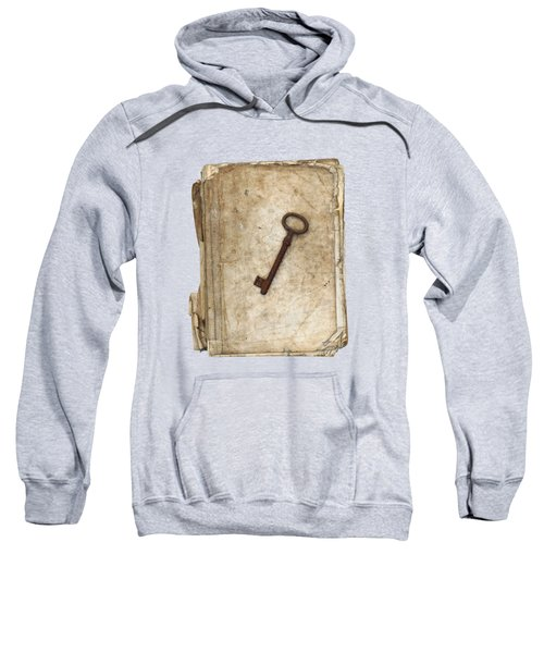 Worn And Tattered Book And Old Rusty Key Sweatshirt