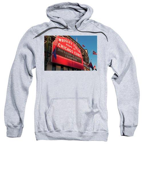 Wrigley Field Marquee Angle Sweatshirt by Steve Gadomski