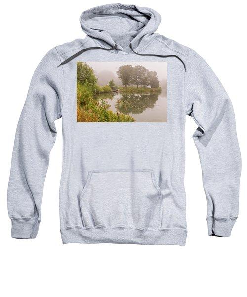 Misty Pond Bridge Reflection #5 Sweatshirt