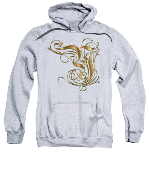 Y Ornamental Letter Gold Typography Sweatshirt
