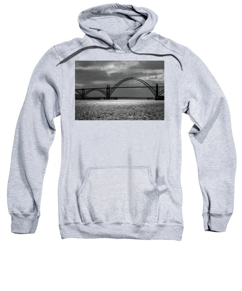 Yaquina Bay Bridge Black And White Sweatshirt