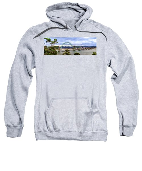 Yaquina Bay Bridge Panorama Sweatshirt