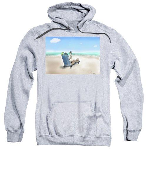 Yellow Bird Beach Selfie Sweatshirt