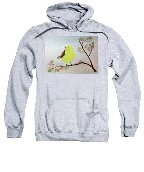 Yellow Chickadee On A Branch Sweatshirt
