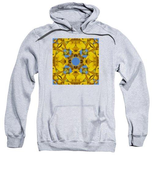 Yellow Coneflower Kaleidoscope Sweatshirt