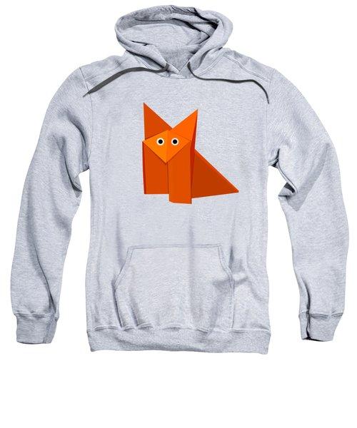 Yellow Cute Origami Fox Sweatshirt