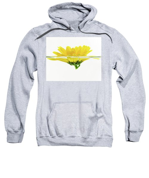 Yellow Flower Floating In Water Sweatshirt