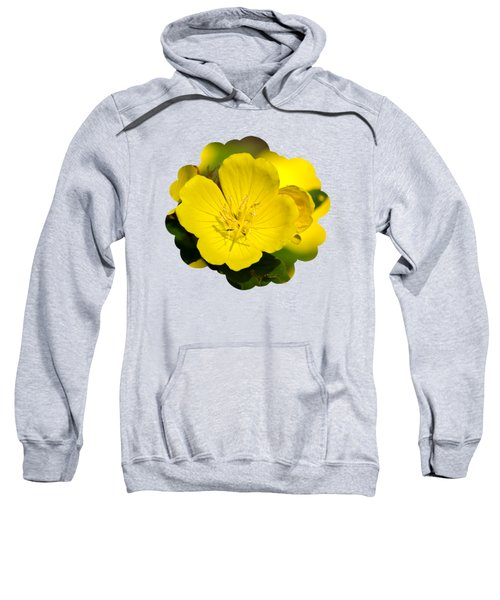 Yellow Flowers - Evening Primrose Sweatshirt by Christina Rollo