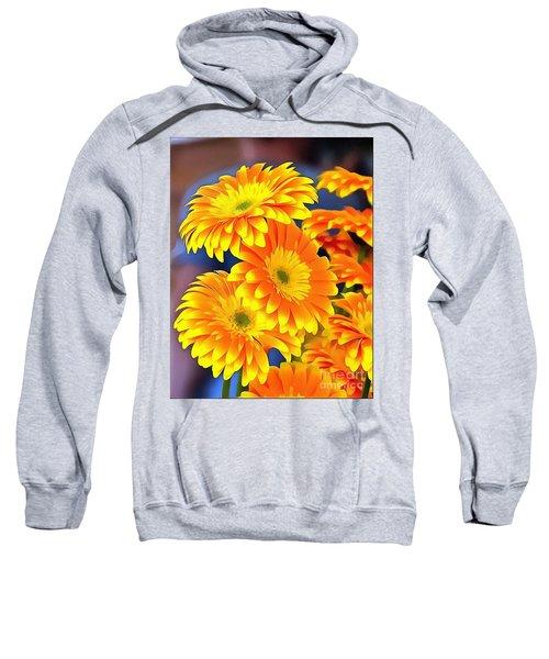 Yellow Flowers In Thick Paint Sweatshirt