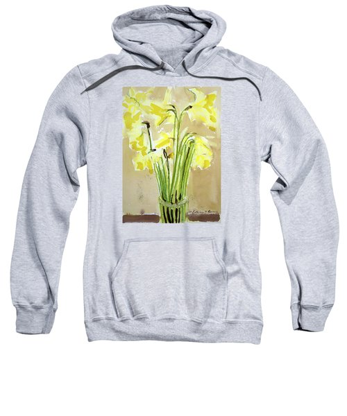 Yellow Flowers In Vase Sweatshirt