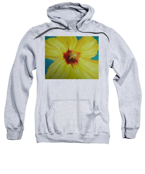 Yellow Hibiscus Sweatshirt
