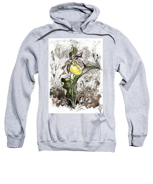 Yellow Lady's Slipper Sweatshirt