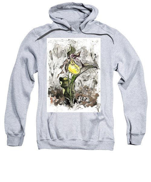 Yellow Lady's Slipper Sweatshirt