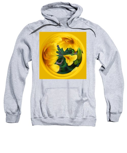 Yellow Lily Orb Sweatshirt by Bill Barber