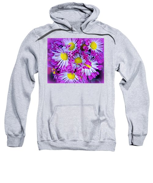 Yellow Purple And White Sweatshirt