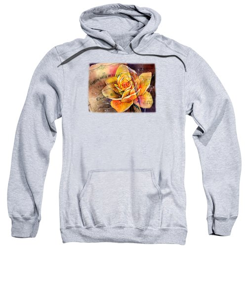 Yellow Rose Of Texas Sweatshirt by Hailey E Herrera