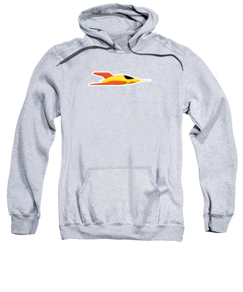 Yellow Space Rocket Sweatshirt by Nathan Poland