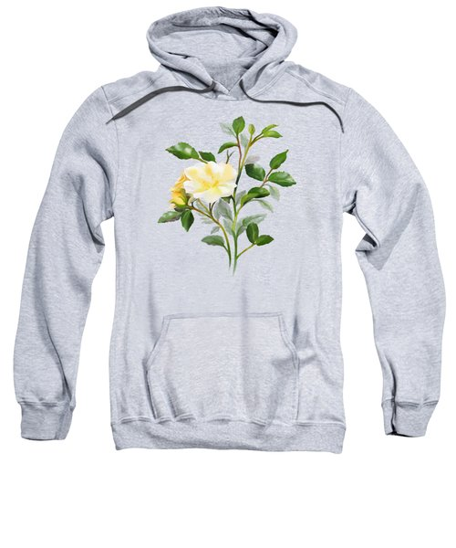 Yellow Watercolor Rose Sweatshirt