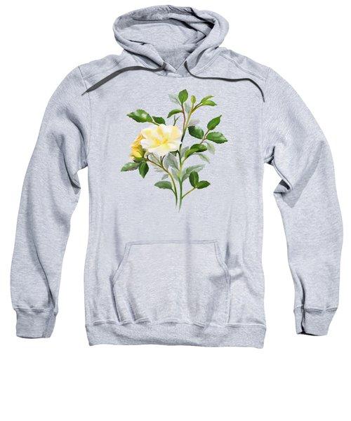 Yellow Watercolor Rose Sweatshirt