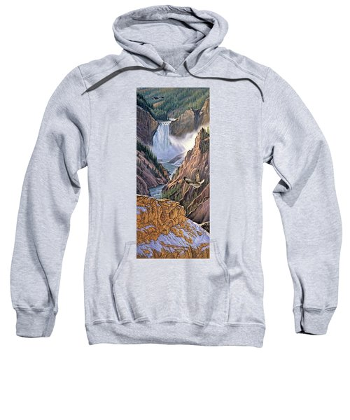 Yellowstone Canyon-osprey Sweatshirt by Paul Krapf